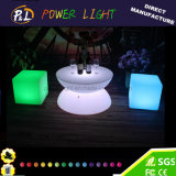 Rechargeable Plastic Furniture Illuminated LED Coffee Table