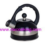 0.5mm Body Thickness Stainless Steel Whistling Kettle with Painting Color