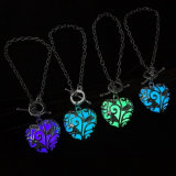 Magical Love Heart Glow in The Dark Pendant Necklace Jewelry Gift