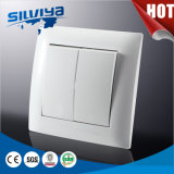 High Quality Two Gang One Way Wall Switch (European standard)