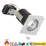 Square 90mins Fire Rated Recessed Ceiling COB Spotlight LED Down Light