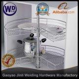 3/4 270 Degree Wire Corner Carousel Kitchen Storage Rack