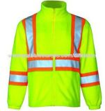 Safety Reflective Coats with Polar Fleece, Colors Available