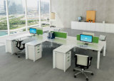 Fashion Design Linear Office Partition L Shape Desk Workstation (HF-YZLB10)