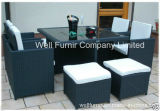 Cube Rattan Garden Furniture Set with Chairs Sofa Table Outdoor Patio Wicker 8 Seater
