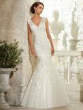 Elegant Beading Lace Bridal Gown Sleeveless Wedding Dress