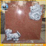 European Style Red Granite Grave Funeral Tombstone & Monument for Cemetery