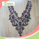 Vintage Lovely Flower Figures Gray and Green 3D Colar Lace