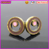 Loop Shape Pretty Pink DOT Metal Earrings for Girls (21617)