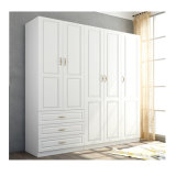 Morden New Design Wooden 5 Door Wardrobe for Bedroom