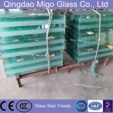 10mm Thickness Clear Staircase Railing Tempered Glass