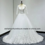 See Through Back Lace Wedding Dresses Elegant Temperament Wedding Gown