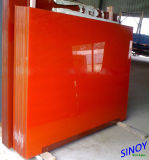 Ral 2001 Orange Classic Back Painted Glass, Lacquered Glass for Interior Decoration Applications