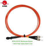 1.8mm MTRJ-ST/PC Multimode 62.5 Om1 Duplex Fiber Optic Patch Cord