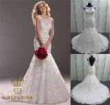 White Lace and See Through Mermaid Wedding Dresses Bridal Dresses