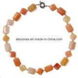 Semi Precious Stone Crystal Jewelry Fashion Necklace (ESB01383)