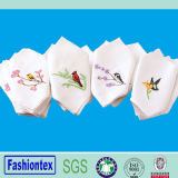 White Cotton Vintage Style Embroidered Wedding Party Handkerchief