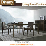 Modern Dining Table with Solid Wood Design