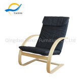 Popular Leisure Wooden Chair with Metal Frame