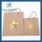 Hot Foil Stamping Kraft Paper Bag (CMG-MAY-055)