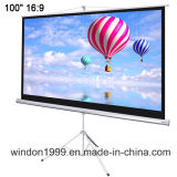 4 3 120 Inch Tripod Floor Pull up Projector Screen HD for Home Cinema