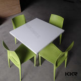 Solid Surface Kitchen Furniture Square Dining Table Sets