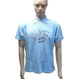 Single Jersey Men Polo Shirt in Blue