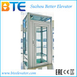 Ce Mrl Vvvf Panoramic Home Elevator with Glass Cabin