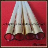 Heat Resistance Gold Coatd Twin Quartz Glass Tube Pipe