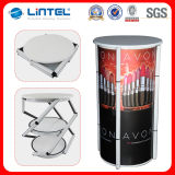 Advertising Aluminum Spiral Tower Display Folded Promotion Table