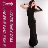 Black Sheer New Long Dresses (L5007-2)