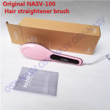 Hair Comb Straightener Iron Brush with LCD Display Screen