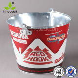 1qt Promotional Thin Metal Ice Bucket Beer Bucket Cooler