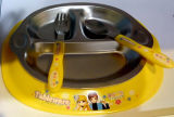 Stainless Steel Kids Dinner Plate Sets with Division