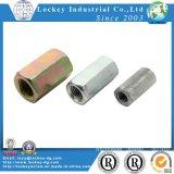 Carbon Steel Hex Coupling Nut Long Nut Yellow Zinc