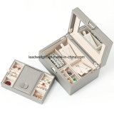 Colorful Synthetic Leather Jewelry Box Storage Packaging Box