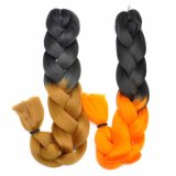 2017 New Style Hair Braid 100% Kanekalon Ombre Colors Braid Synthetic Hair Extension Lbh 018