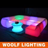 Colorful LED Sofa Light/Outdoor Furniture Plastic LED Sofa/LED Sofa Outdoor