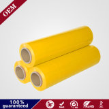 100% Virgin Material Yellow LLDPE Stretch Film 15mic for Pallet Wrapping