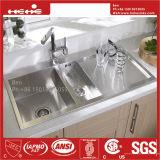Square Handmade Sink with Drain Board, Kitchen Sink, Sink