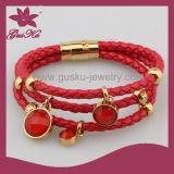 Leather Bracelet Jewellry (2015 Stlb-058)