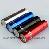 Aluminum 9 LED Mini Flashlight with Logo Printed (4080)