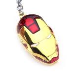 승진 선물 철 남자 금속 가면 Keychain 열쇠 고리 반지 슈퍼 영웅 펜던트 열쇠 고리
