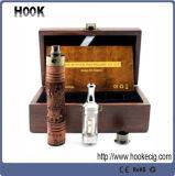 Nouvelle cigarette électronique de nouvelle d'E Fire/X du feu de fileur de la tension E batterie en bois variable de Cig