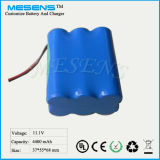 12.6V/12V 4400mAh nachladbare Lithium-Ionenbatterie