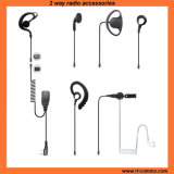 D Shape Adjustable Ear Hanger Earpiece in Qd Type