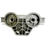 Peça feita à máquina da liga de alumínio para a base do filtro (ADC-03)
