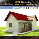 Casa prefabricada de acero de lujo del panel de pared de emparedado del bajo costo EPS