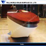 TW 현대 작풍 우아한 배 디자인 Corian 수신 싱크대 객실 접수대 (TW-MART-263)