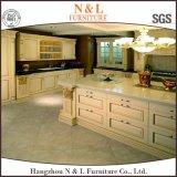 Classcial様式のホーム家具の純木の食器棚